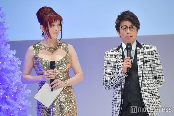 Twitterトレンド大賞でMCを務めた叶美香、田村淳 (C)モデルプレス
