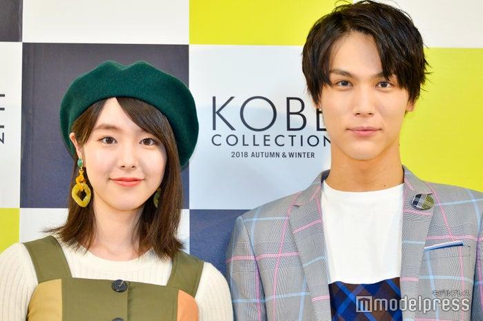 「神戸コレクション2018 AUTUMN/WINTER」に出演した唐田えりか、中川大志 (C)モデルプレス