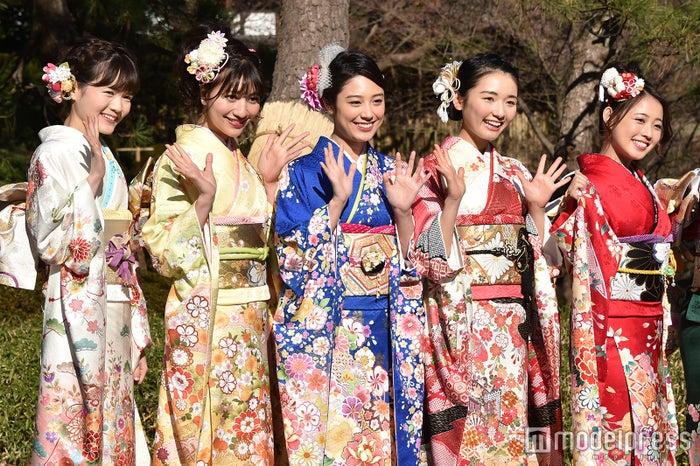 杉田亜弥さん、齋藤千尋さん、杉田友里さん、對馬桜花さん、松井まりさん (C)モデルプレス