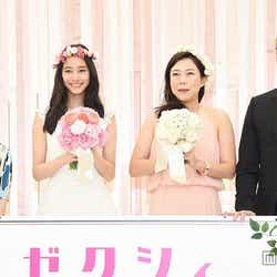 (左から)神本絵里氏、新木優子、椿鬼奴、箭内道彦氏