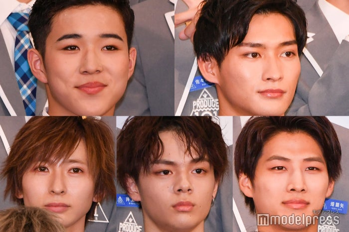 (上段)今西正彦、安藤誠明、(下段)五十畑颯斗、鶴房汐恩、寺師敬 (C)モデルプレス