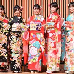 STU48(左から)矢野帆夏、沖侑果、今村美月、中村舞、谷口茉妃菜 (C)モデルプレス