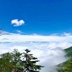 霧を抜けると雲の上に(C)モデルプレス