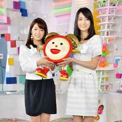 小野彩香キャスター(右)と長野美郷キャスター(左)