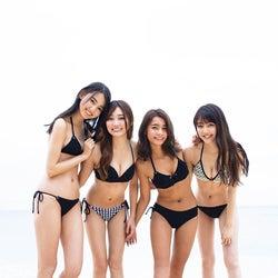 松川菜々花・遠山茜子・黒木麗奈・みうらうみ、モグラ女子が水着で美ボディ競演