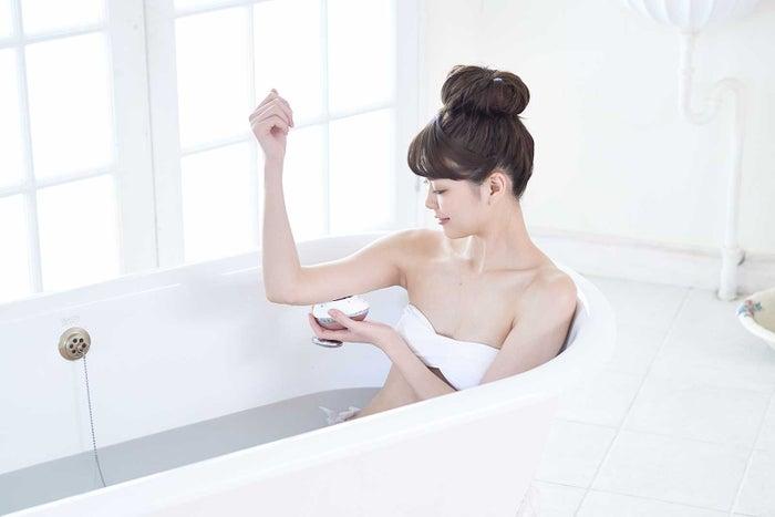 防水使用でお風呂でも使用OK