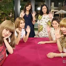 左から:きゃりーぱみゅぱみゅ、ダレノガレ明美、観月ありさ、又吉直樹(ピース)、河北麻友子、益若つばさ/画像提供:関西テレビ