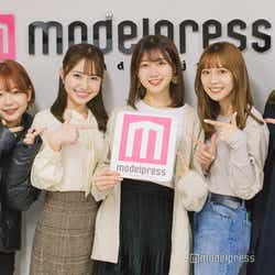 「ミス立教2020」ファイナリスト(左から)(左から)友田紗季さん、伊藤彩華さん、樋口花果さん、潘佳伊さん、山口清香さん (C)モデルプレス