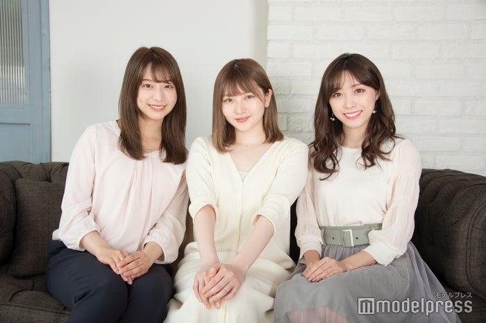 (左から)山口清香さん、尾形春水さん、依田奈波さん(C)モデルプレス