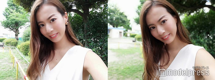 右:ボケ味ありで撮影 サブカメラでも奥行き感を楽しめる/「HUAWEI P20 lite」で撮影
