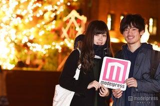 「クリスマスはお泊り」美男美女カップルを直撃<横浜赤レンガ イルミネーション>
