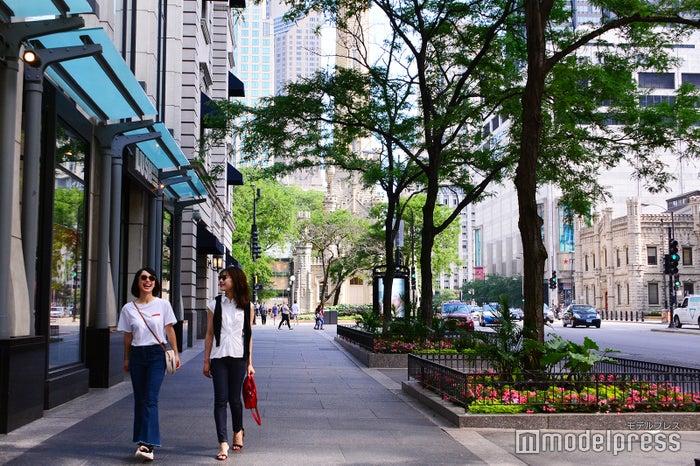 シカゴ随一のショッピングエリア・マグニフィセントマイル(C)モデルプレス