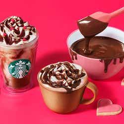 モデルプレス - スタバ「メルティ 生チョコレート フラペチーノ」「メルティ 生チョコレート モカ」甘くとろける生チョコのバレンタインビバレッジ