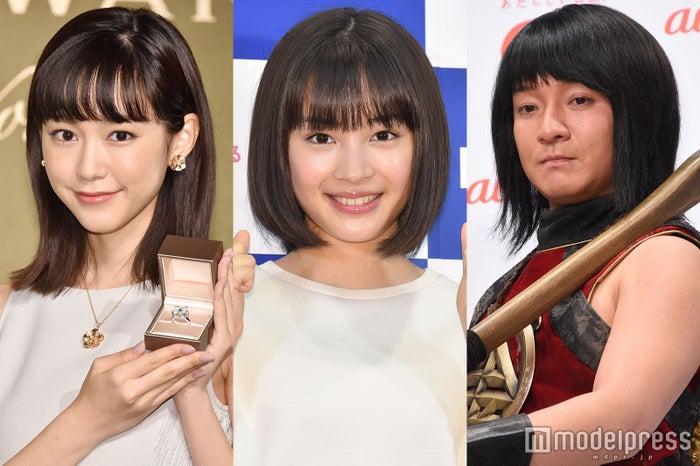 (左から)桐谷美玲、広瀬すず、濱田岳 (C)モデルプレス