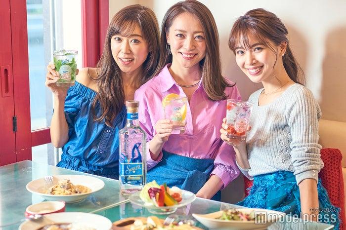 (左から)池田るり、磯部奈央、山下美咲(C)モデルプレス