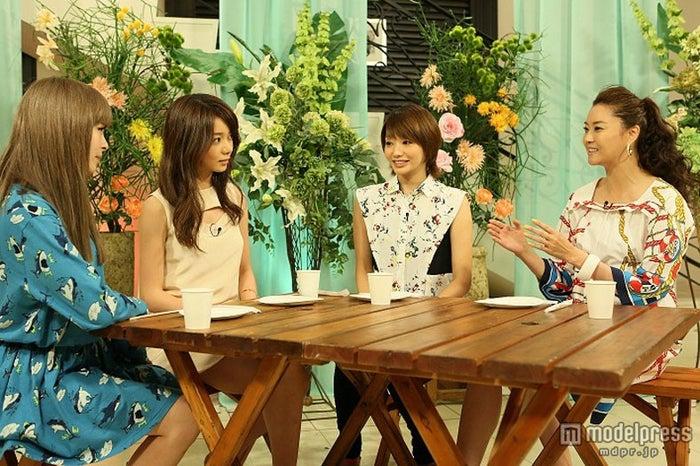 左から:きゃりーぱみゅぱみゅ、森カンナ、眞鍋かをり、観月ありさ/画像提供:関西テレビ