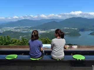 福井に新絶景スポット「天空のテラス」カフェや足湯で三方五湖の大パノラマに感動