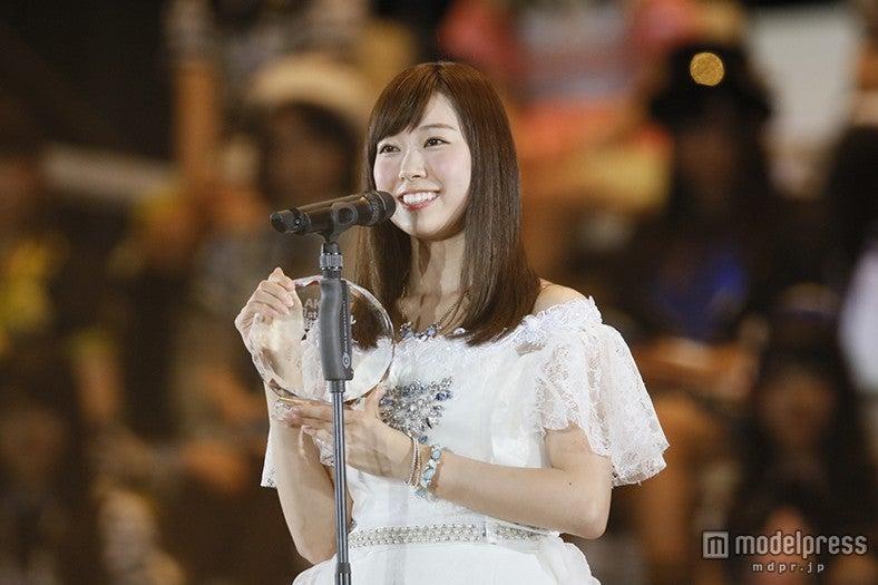 """NMB48渡辺美優紀が選抜復帰 """"ライバル""""山本彩への本音も「ダメかなって思うこともあった」<第7回AKB48選抜総選挙>(C)AKS【モデルプレス】"""