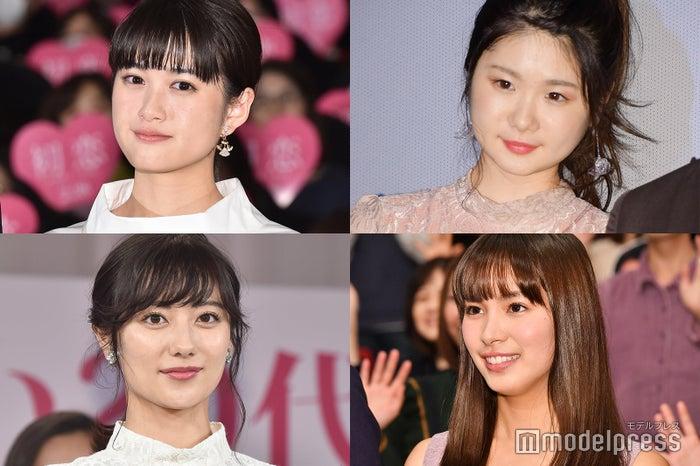 (左上から時計回りに)小西桜子、小野花梨、関水渚、奥山かずさ(C)モデルプレス