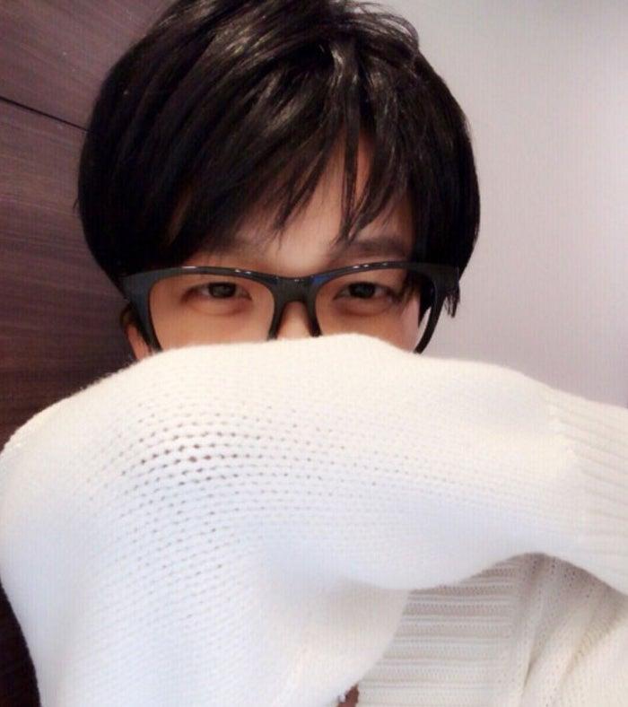 早坂さん風ものまねメイクを披露したざわちん/オフィシャルブログ(Ameba)より