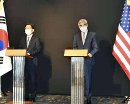 米代表「挑発やめ対話を」 北朝鮮に、韓国高官と協議