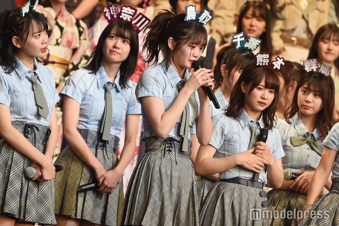 1位の喜びを口にする中野郁海「AKB48グループリクエストアワー セットリストベスト100 2019」 (C)モデルプレス
