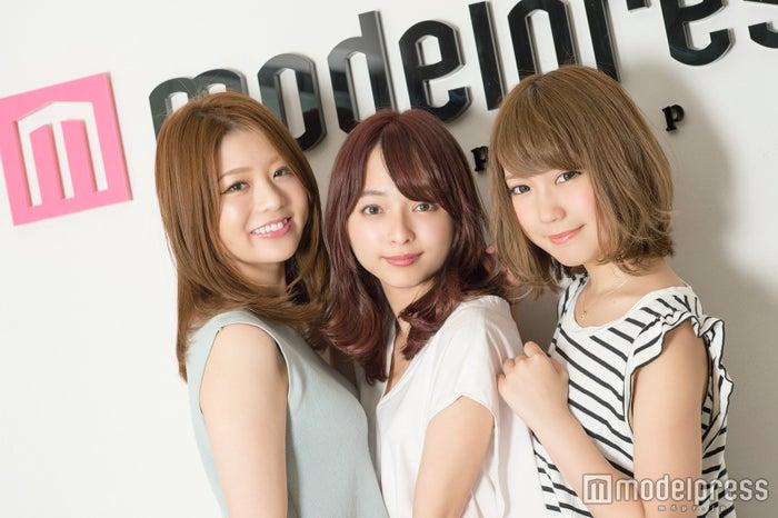 (左から)斎藤悠衣さん、黒口那津さん、三方優加さん(C)モデルプレス