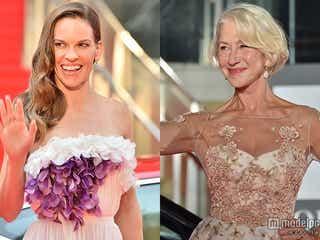 ヒラリー・スワンク&ヘレン・ミレン、2大オスカー女優が豪華美の競演果たす