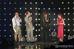 (左から)トレンディエンジェル・たかし&斎藤司、松崎しげる、田中みな実(C)モデルプレス