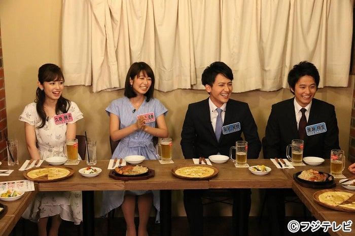 (左から)久慈暁子、海老原優香、安宅晃樹、黒瀬翔生 (C)フジテレビ