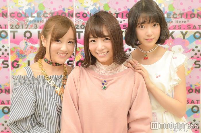モデルプレスのインタビューに応じた星野みなみ、北野日奈子、堀未央奈(C)モデルプレス