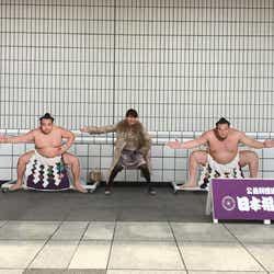 相撲観戦を楽しみました(提供写真)