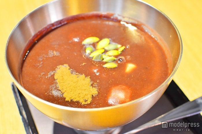 「タムジャンヨッペクッカコッ」のほっこり甘い「あずき粥」