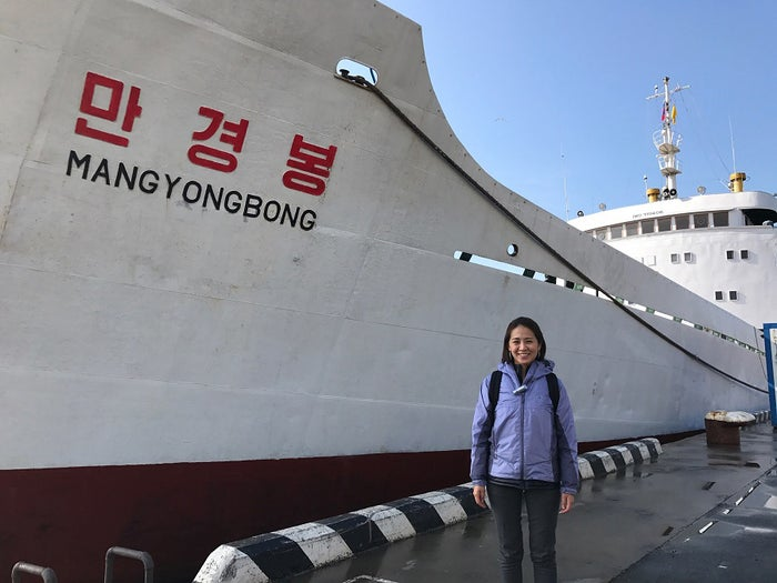 去年取材で行った北朝鮮。万景峰号にも乗りました。(提供写真)