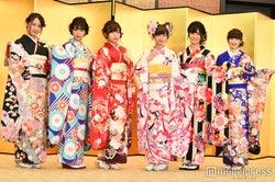 NGT48(左から)西村菜那子、奈良未遥、宮島亜弥、中井りか、村雲颯香、太野彩香 (C)モデルプレス