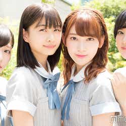 インタビューに応じたHKT48の月足天音、松岡はな、宮脇咲良、兒玉遥 (C)モデルプレス