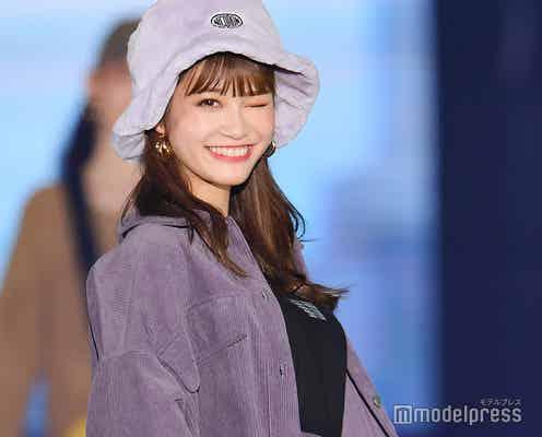 生見愛瑠、ウインクで観客虜に 美脚見せランウェイ<GirlsAward 2019 A/W>