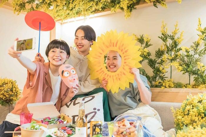 黄色いお花見ステイ/画像提供:星野リゾート