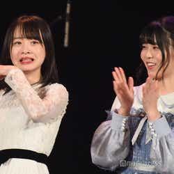 予選通過し驚く横山結衣、矢野帆夏/「AKB48グループ歌唱力No.1決定戦」決勝大会 (C)モデルプレス