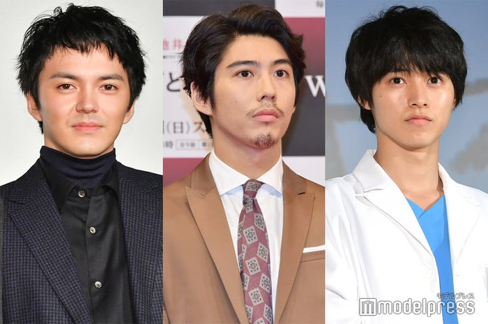 (左から)林遣都、賀来賢人、山崎賢人 (C)モデルプレス