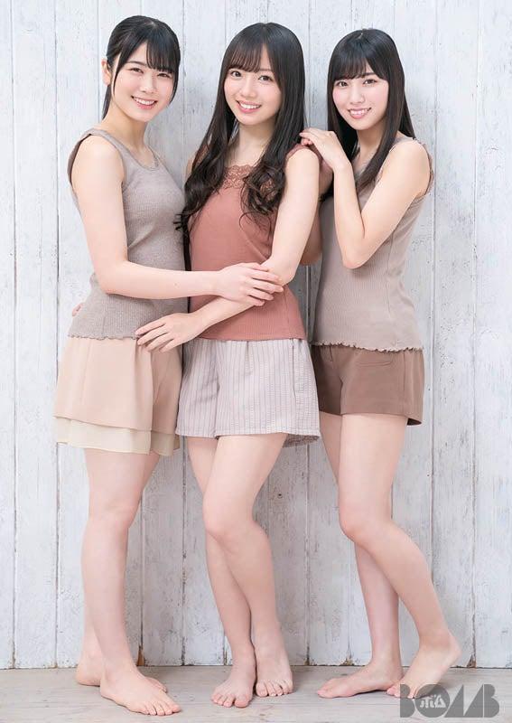 (左から)丹生明里、齊藤京子、河田陽菜(提供画像)