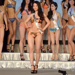 2014ミス・ユニバース・ジャパンの長崎代表の辻恵子さん(20)