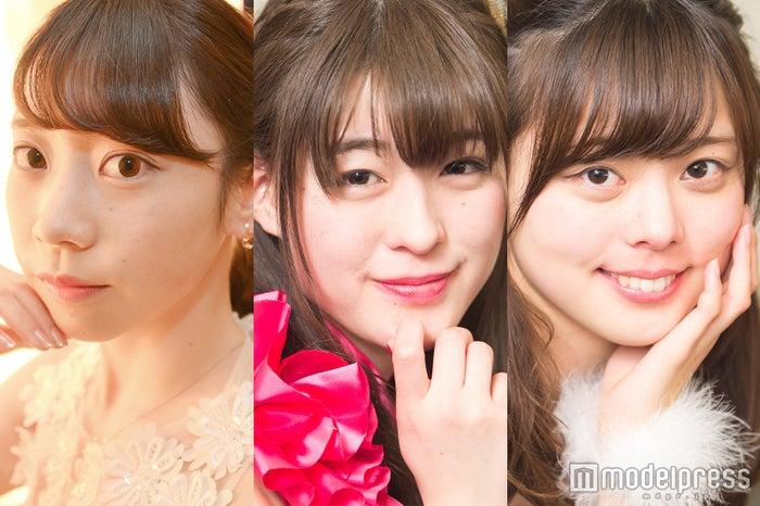 (左から)横垣萌々子、今井利奈、春山渚 (C)モデルプレス