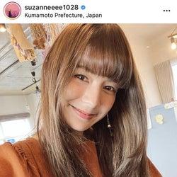 スザンヌ、2年ぶりの前髪ぱっつんヘアに「髪サラサラ」「お人形さんみたい」と注目集まる