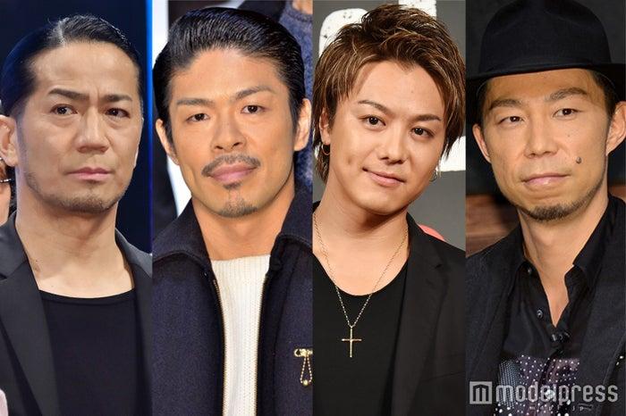 (左から)EXILE HIRO、松本利夫、TAKAHIRO、USA (C)モデルプレス