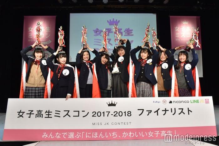 昨年度「女子高生ミスコン 2017-2018」全国ファイナリスト8人(C)モデルプレス