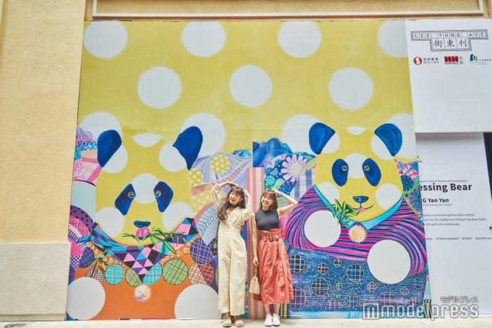 利東街にある可愛いパンダのウォールアート/阿部朱梨、前坂美結(C)モデルプレス