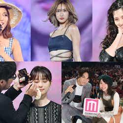 (上段左から)chay、紗栄子、中条あやみ(下段左から)河北裕介ステージ、映画「覚悟はいいかそこの女子。」×モデルプレスステージ(C)モデルプレス