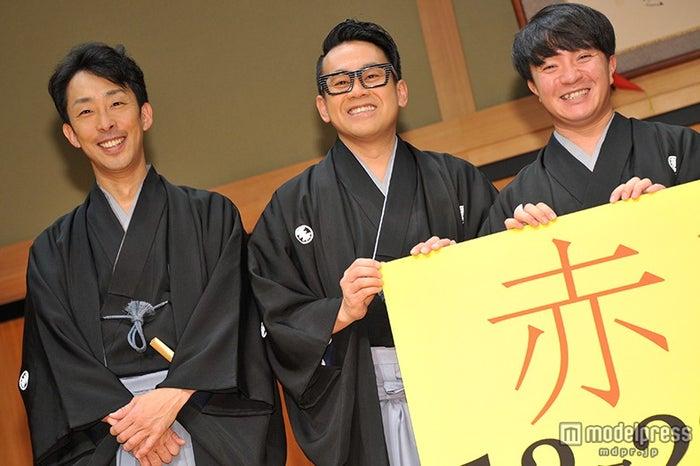 (左から)北村有起哉、宮川大輔、濱田岳(C)モデルプレス