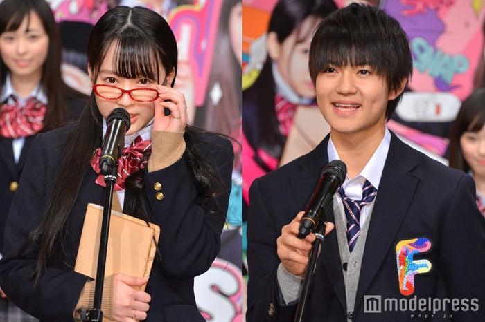 (左から)越智ゆらの(ゆらゆら)、佐野勇斗(C)モデルプレス